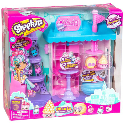 Shopkins world vacation macaron cafe