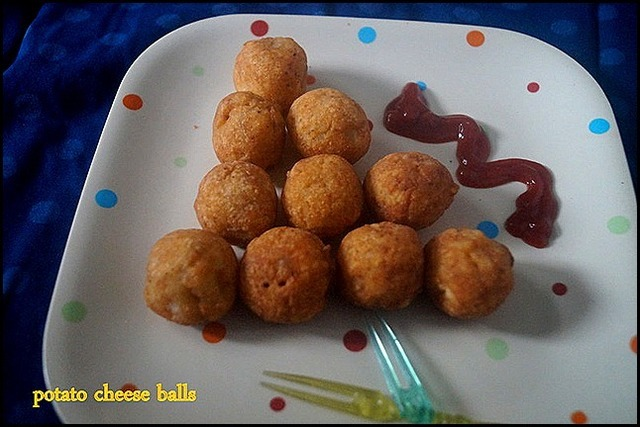 POTATO CHEESE BALLS/KIDS RECIPES/PARTY SNACKS