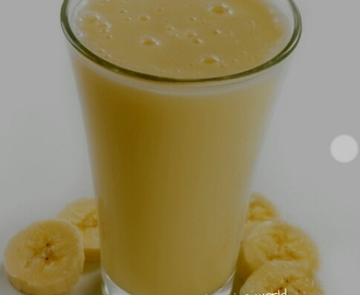Banana almond milk shake