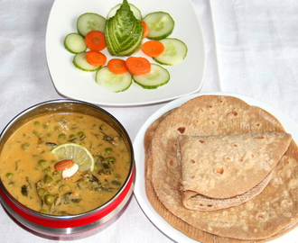 Vegan Methi Malai Matar – cream free (Peas fenugreek leaves gravy)