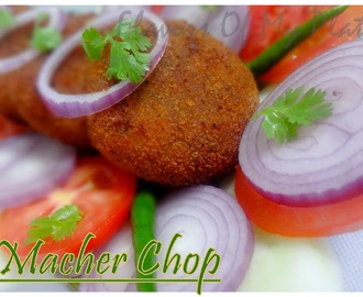 Macher Chop (Fish Croquettes)..............From the streets of Kolkata
