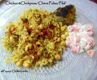 Chana and Chicken Pulao/Murgh Kabuli Chana Pulao/Pilaf Recipe