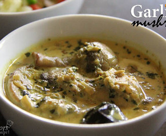 Garlicky Mushroom Recipe | How to make Indian Style Mushroom Curry Recipe