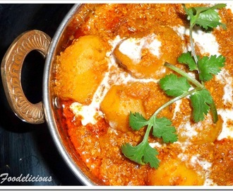 Mughlai Dum Aloo…… on a foggy day