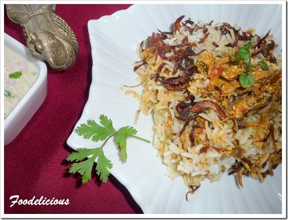 My 100th Post Jackfruit Biryani & Raita …and an event announcement