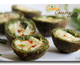 Spinach Cheese balls | How to make Spinach Cheese Balls | Indian Snack Recipes