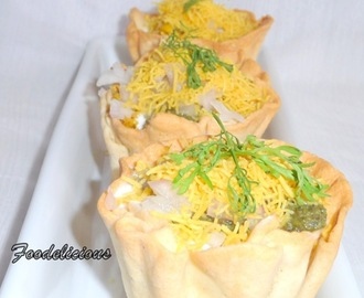 Corn Chaat in Baked Corn Cups
