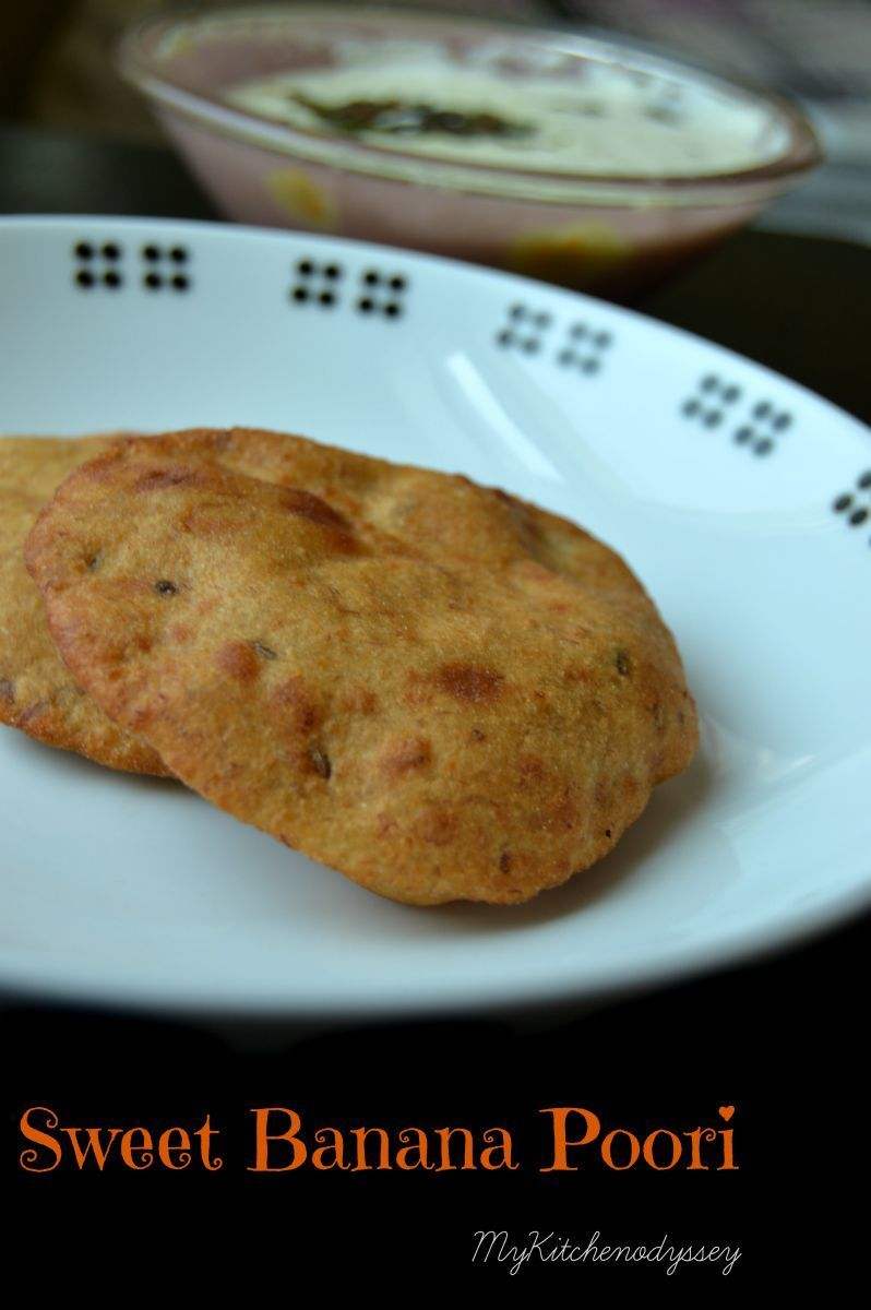 Mangalore Buns Recipe | Sweet Banana Poori  | Step By Step Pictures