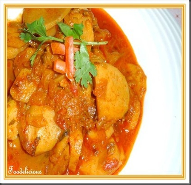 Khatti Arbi / Arvi Ka Salan…Taro cooked in tangy Curry