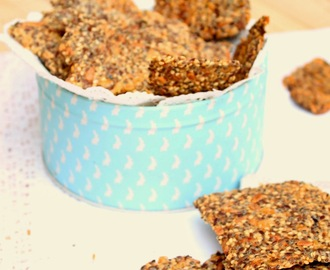 Crackers de sementes (vegan) . Seed Crackers (vegan)