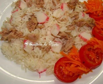 Arroz de Atum com Delícias do Mar