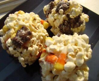 Loaded Candy Popcorn Balls