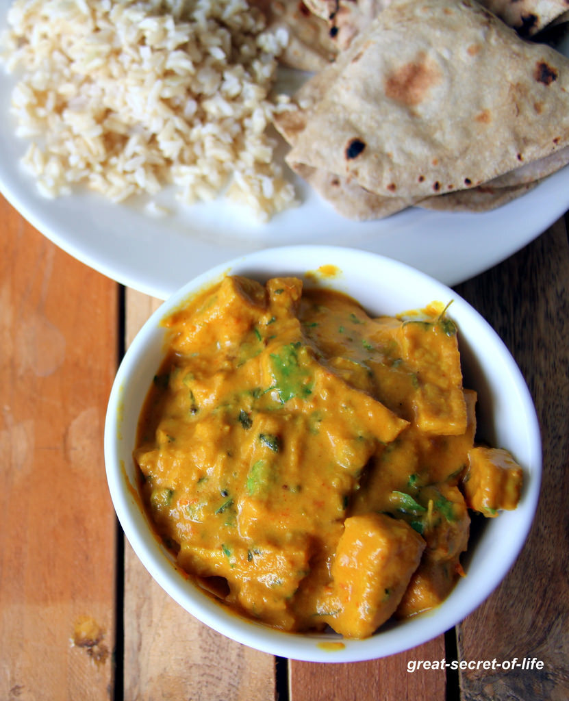 Tofu Masala - Healthy side for rice, roti, chapathi - Simple and healthy vegetarian gravy