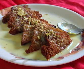 Shahi Tukda -Shahi Tukra - how to make shahi tukda/tukra?- Recipe with Step by step pictures