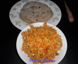 Carrot Egg Burji - Shhhhh Cooking Secretly Challenge