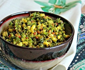 Amaranth Leaves And Sprouts Curry, Mulai Keerai Mulai Payaru Curry