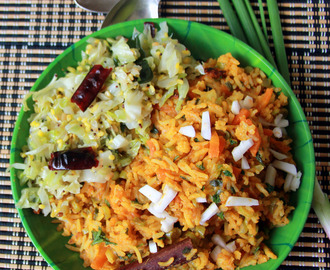 Young coconut mixed vegetable rice - Simple one pot meal - Simple Lunch recipes - Rice recipes