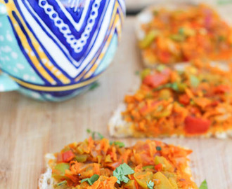 [Quick Monsoon Recipe] Iyengar Bakery Style Vegetable Masala Bread Toast