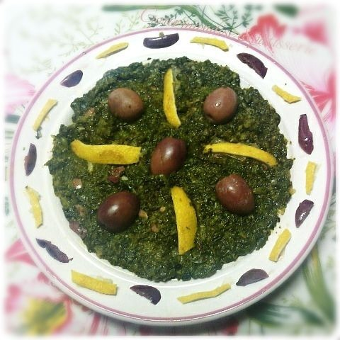 سلطة السبانخ , salade ( épinards,pourpier,…)