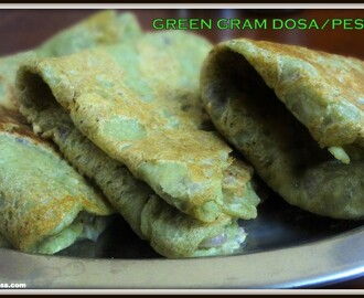 Green Gram/Whole Moong Bean Dosa