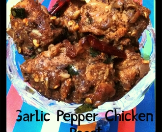 Garlic pepper chicken roast