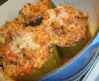 Turkey Stuffed Green Bell Peppers