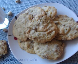 Galletas de pistachos y chocolate