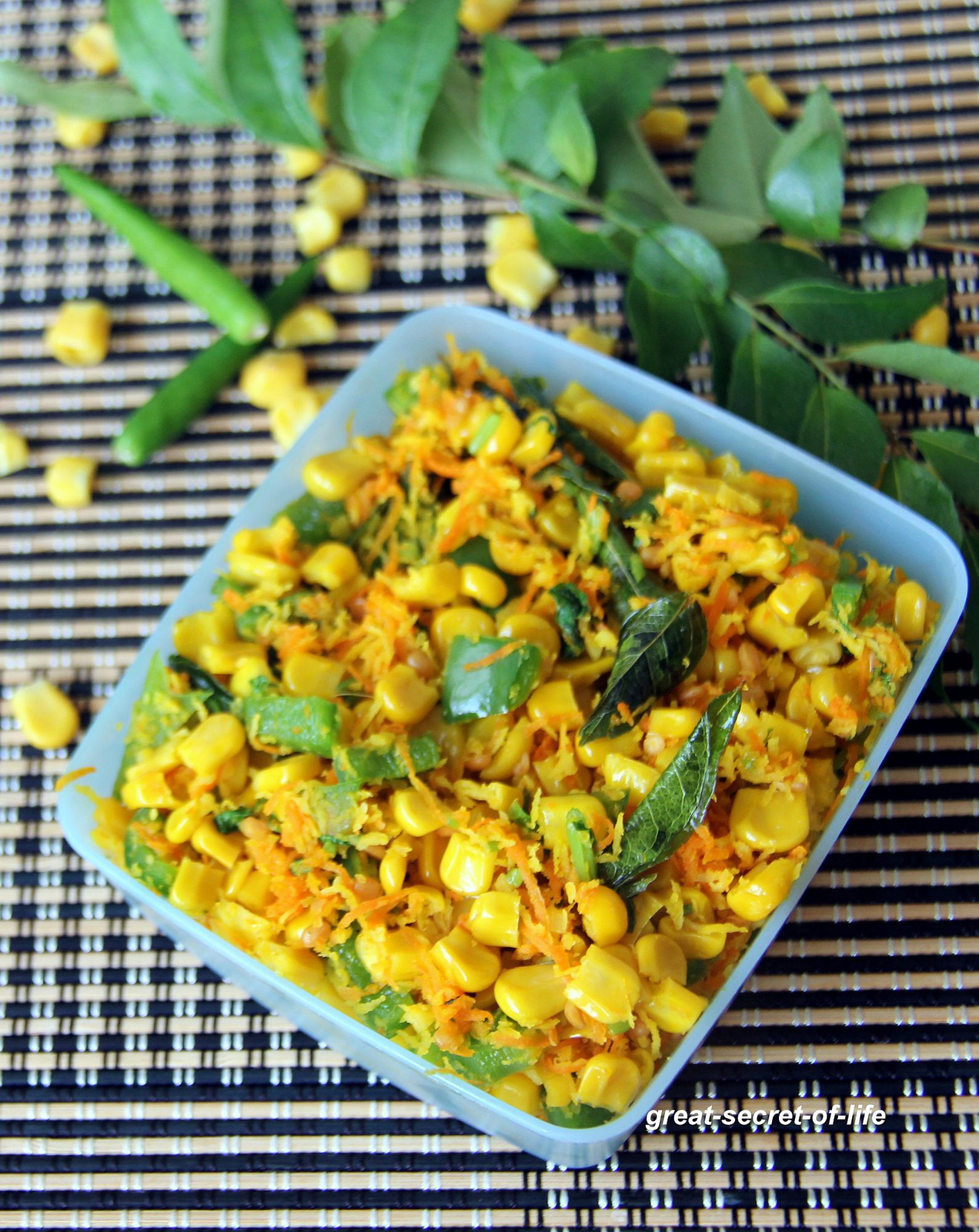 Corn Sundal - Corn salad - healthy snack recipe - Pooja recipes - naivedyam recipes - vinayagar chaturthi recipes
