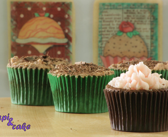 Cupcakes de chocolate con buttercream de fresa o chocolate con menta
