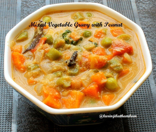 Vegetable Gravy/Kuruma with Peanut