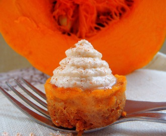 MINI CHEESE CAKE DE CALABAZA