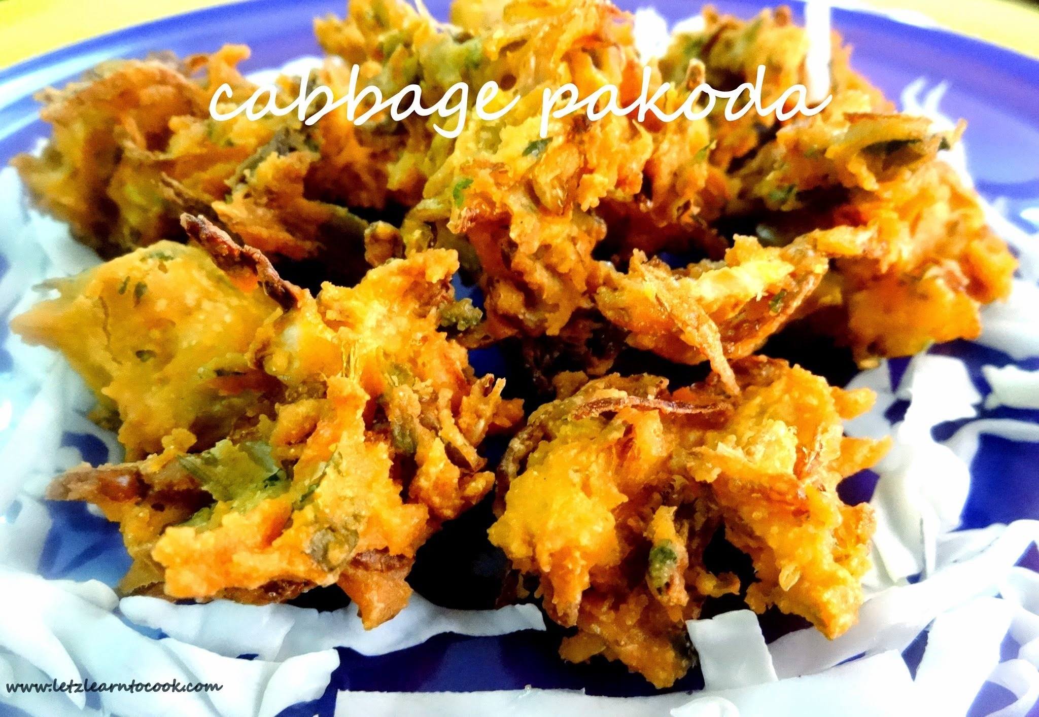 Cabbage pakoda/Cabbage Pakora