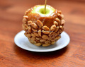 Caramel apple (with peanuts)