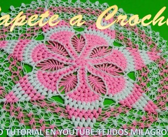 TAPETE A CROCHET PASO A PASO con puntos Garbanzos o Puff y Espuma de mar en VIDEO TUTORIAL