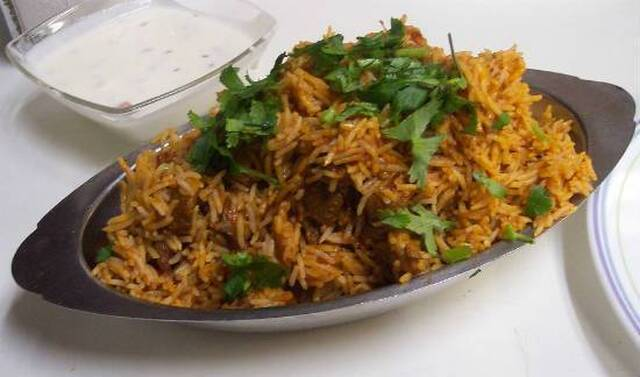 Mutton Biryani with Coconut Milk