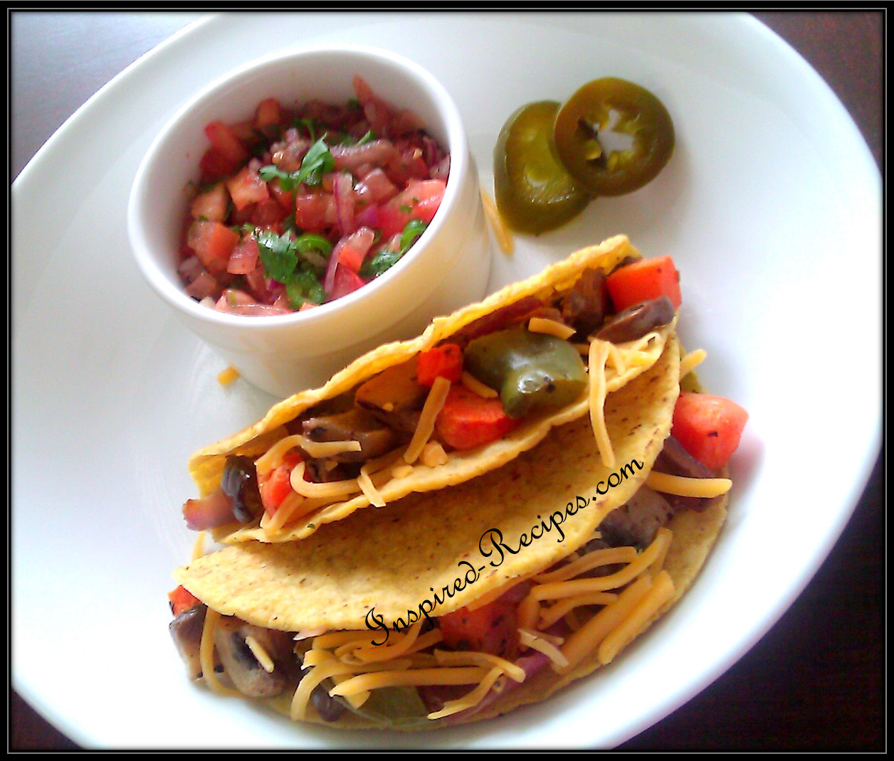 Roasted Vegetable Crispy Tacos With Quick Salsa
