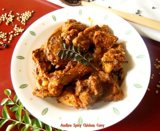 Andhra Spicy Chicken Curry