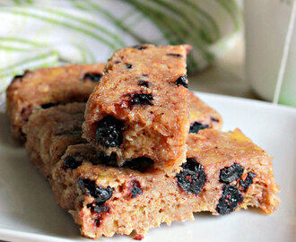 Banana Blueberry Oats Cakes ( Microwave Recipe )