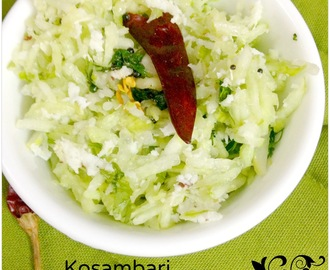 Vellarikai Kosumalli ~ Southekayi Kosambari | Cucumber Salad : South Indian style