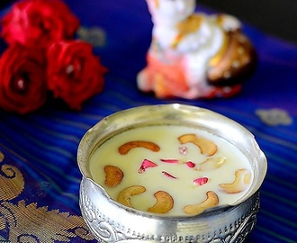 Paal Payasam Recipe-Milk Kheer-Easy Gokulashtami Recipes