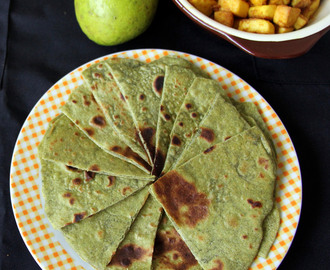 Spinach avocado paratha - Spinach avocado Chapathi - Spinach avocado chapati - Spinach butter fruit paratha - Healthy dinner recipe
