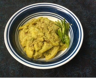 Vegetarian Side Dish – Kakrol Posto / Teasel Gourd in Poppy Seeds Gravy