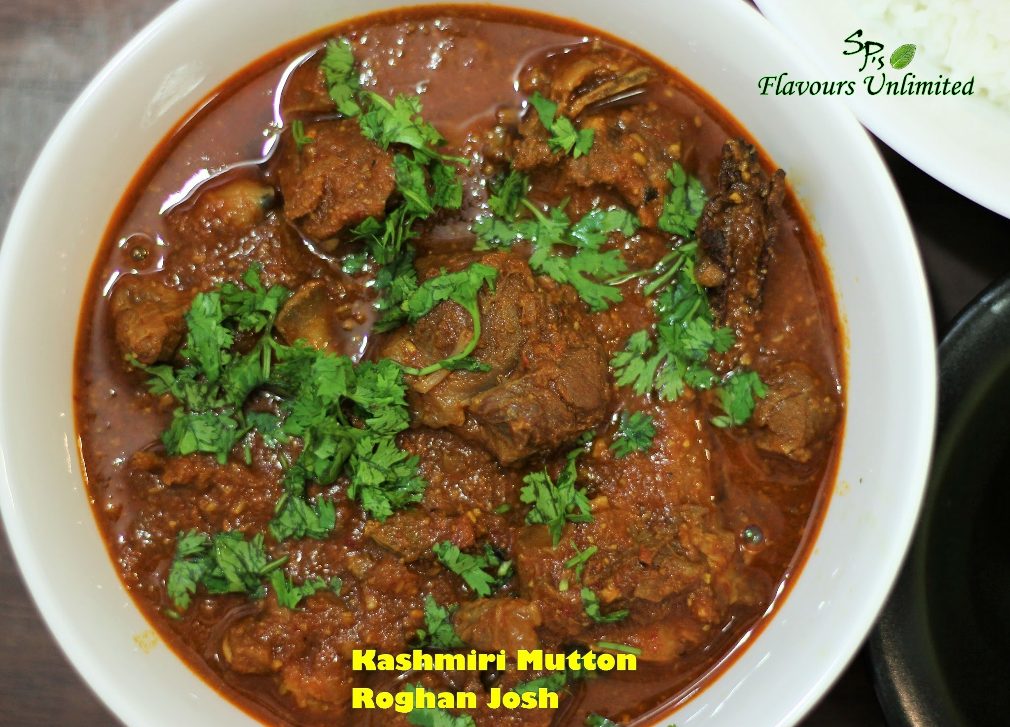 Mutton Roghan Josh - A medium spicy kashmiri dish