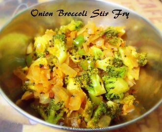 Onion Broccoli Stir Fry