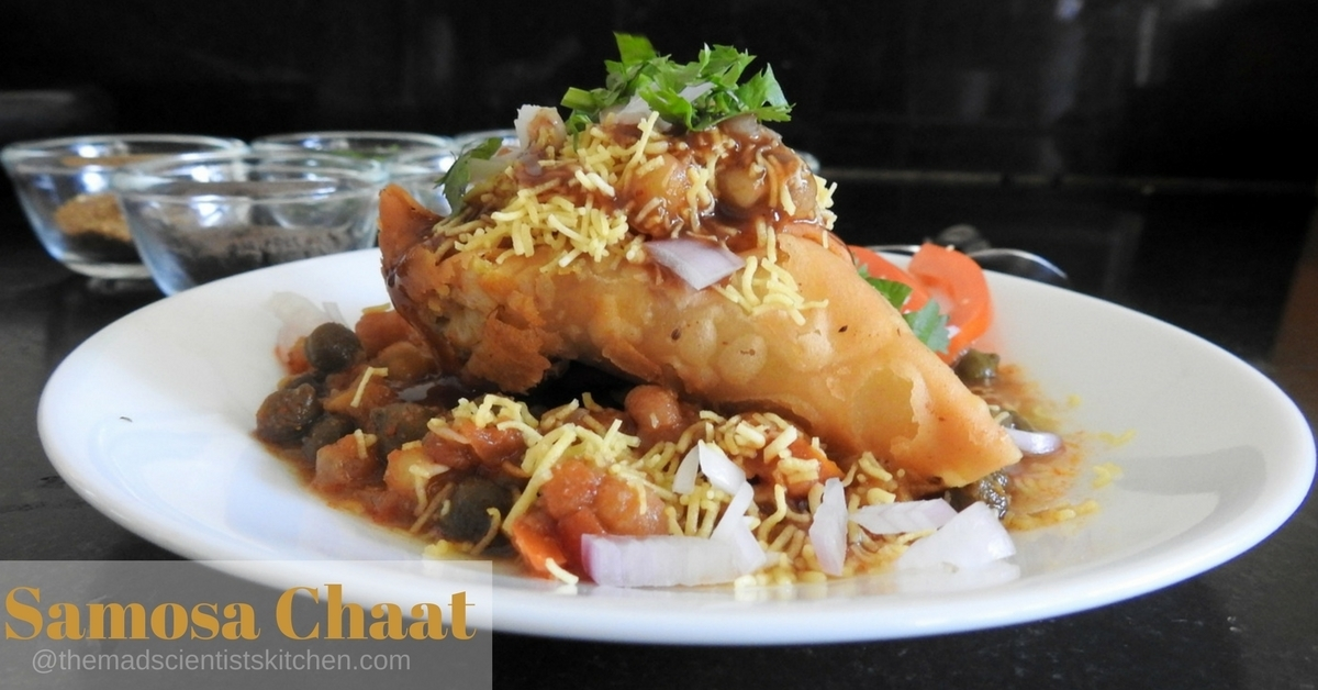 Samosa Chaat Recipe,  How To Make Samosa Chaat
