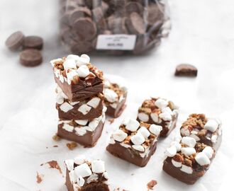 Nötfri Rocky Road Fudge