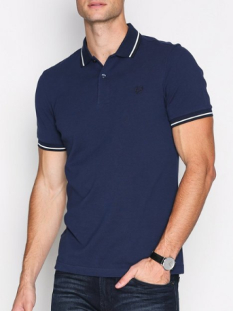 Fred Perry Twin Tipped Fp Shirt Piké Carbon Blue