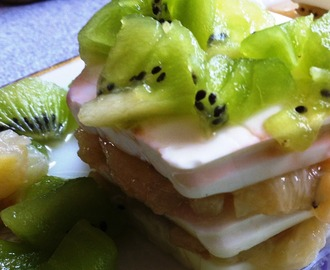 Queso fresco con plátano y kiwi, rápido y light