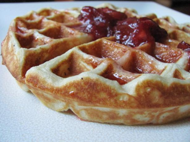 Waffles With Fresh Strawberry Syrup - Emeril Lagasse