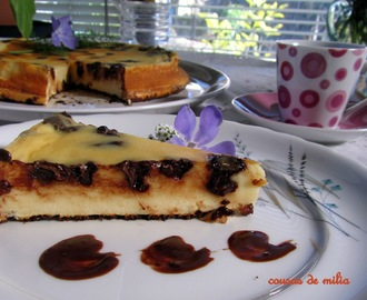 Tarta de queso y chocolate con Thermomix